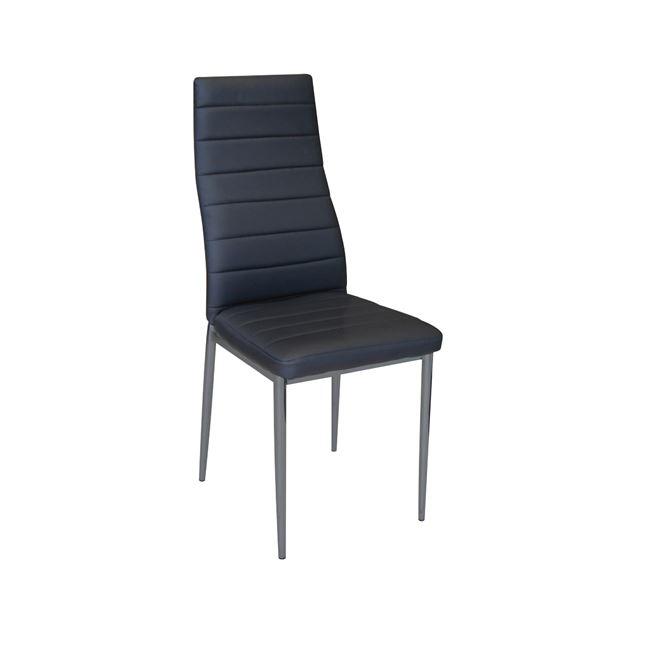 """Καρέκλα """"JETTA-I"""" μεταλλική-pvc σε χρώμα μαύρο 40x50x95"""