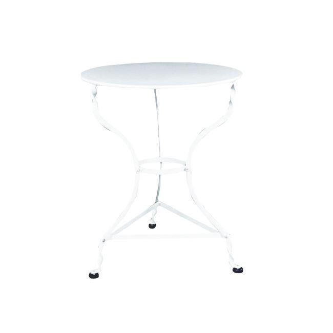 """Τραπέζι """"ΠΑΡΑΔΟΣΙΑΚΟ"""" μεταλλικό σε λευκό χρώμα 60×71"""