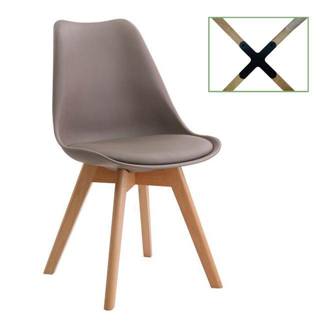 """Καρέκλα """"MARTIN"""" από pp σε sand-beige χρώμα 49x54x82"""