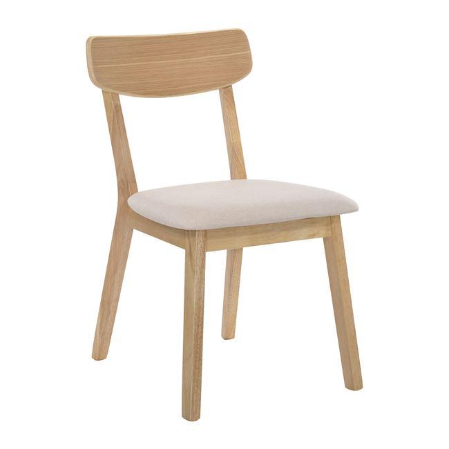"""Καρέκλα """"CALVIN"""" ξύλινη-υφασμάτινη σε cream χρώμα 45x52x80"""