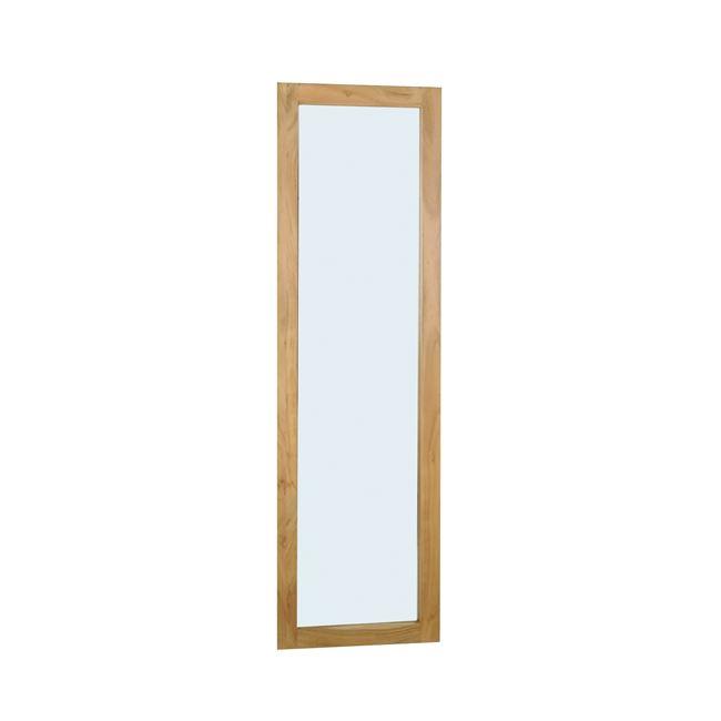 """Καθρέπτης """"REFLEX"""" από ακακία σε φυσικό χρώμα 50×2,50×170"""