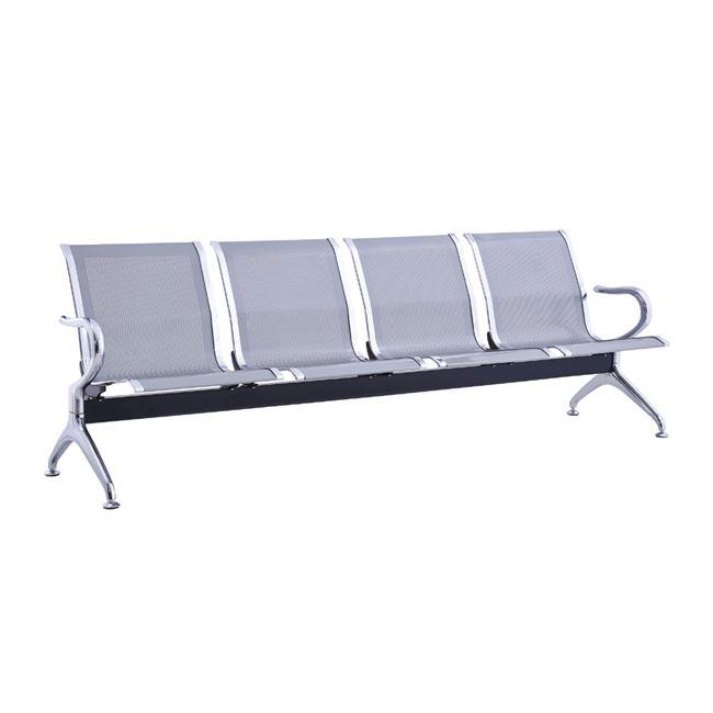 Κάθισμα υποδοχής 4-θέσεων χρωμίου σε γκρι χρώμα 232x68x80