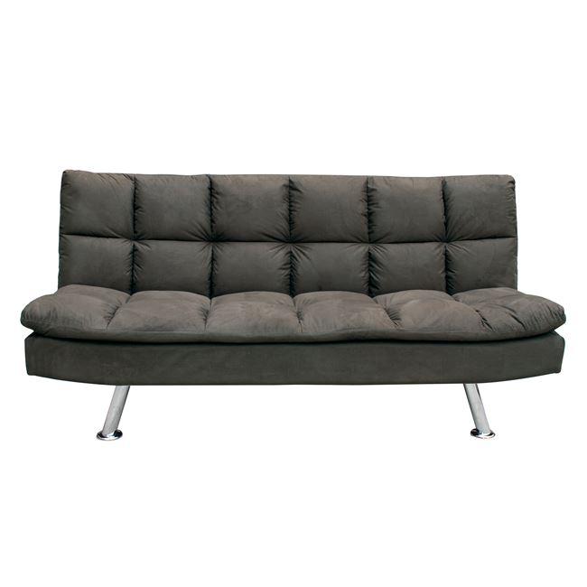 """Καναπές-κρεβάτι """"RAMADA"""" από ύφασμα σε χρώμα σκούρο καφέ 182x92x93"""