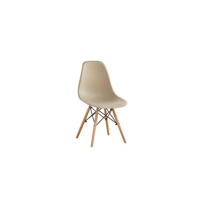 """Καρέκλα """"ART WOOD"""" ξύλινη-pp σε μπεζ χρώμα 46x52x82"""