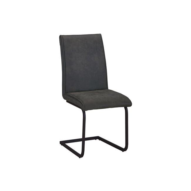"""Καρέκλα """"TORY"""" μεταλλική-υφασμάτινη σουετ σε ανθρακί χρώμα 43x56x95"""
