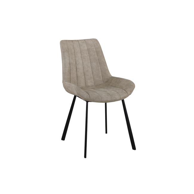 """Καρέκλα """"MATT"""" μεταλλική-υφασμάτινη σουετ σε μπεζ χρώμα 55x61x88"""