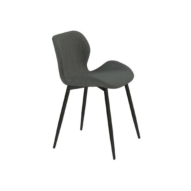 """Καρέκλα """"LILIAN"""" μεταλλική-υφασμάτινη σε σκούρο γκρι χρώμα 46x48x75"""