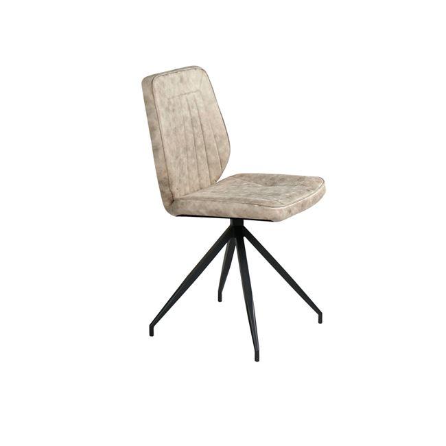 """Καρέκλα """"DONNA"""" μεταλλική-υφασμάτινη σε μπεζ χρώμα 43x41x89"""