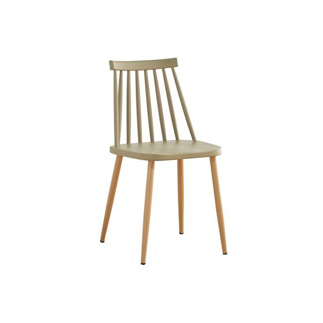"""Καρέκλα """"LAVIDA"""" μεταλλική-pp σε μπεζ χρώμα 42x46x80"""