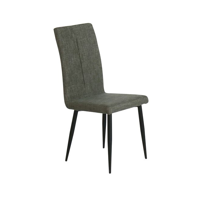 """Καρέκλα """"MINA"""" μεταλλική-υφασμάτινη σε γκρι-καφέ χρώμα 43x48x97"""