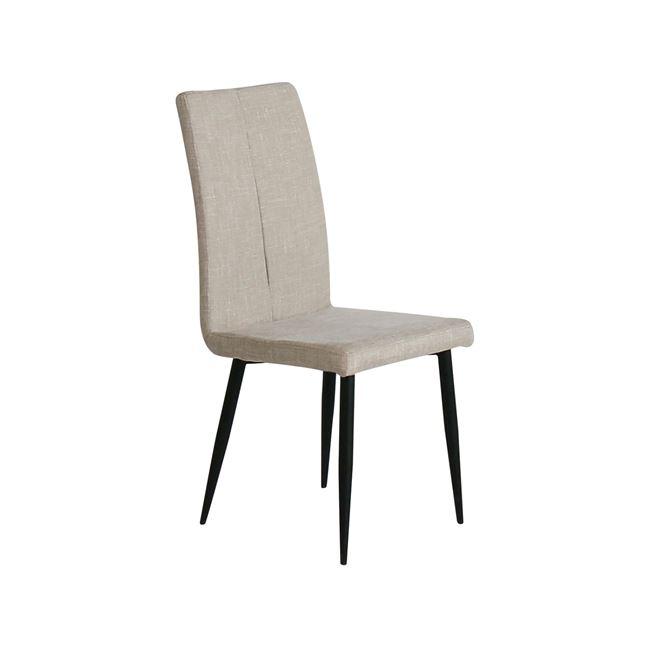 """Καρέκλα """"MINA"""" μεταλλική-υφασμάτινη σε μπεζ χρώμα 43x48x97"""