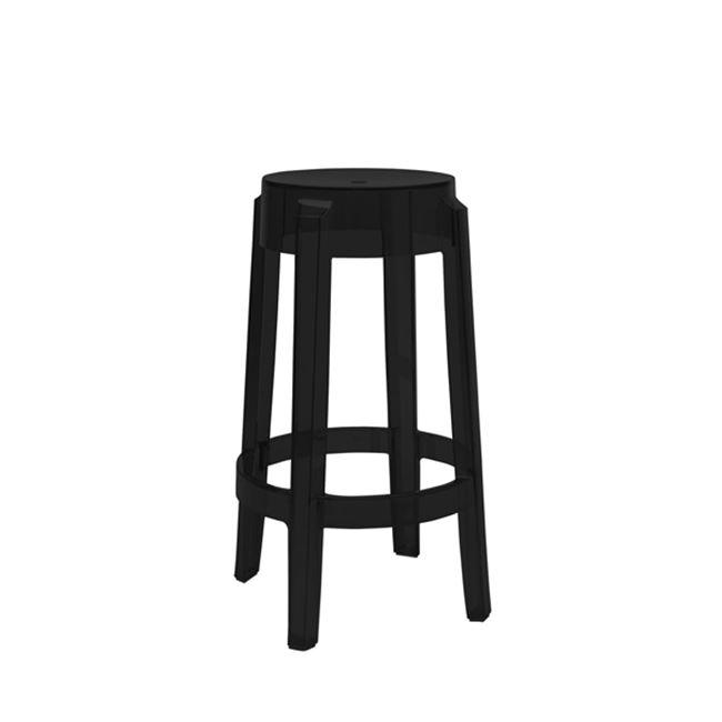 """Σκαμπώ μπαρ """"FRIDO"""" από πολυπροπυλένιο σε μαύρο χρώμα 38×76"""