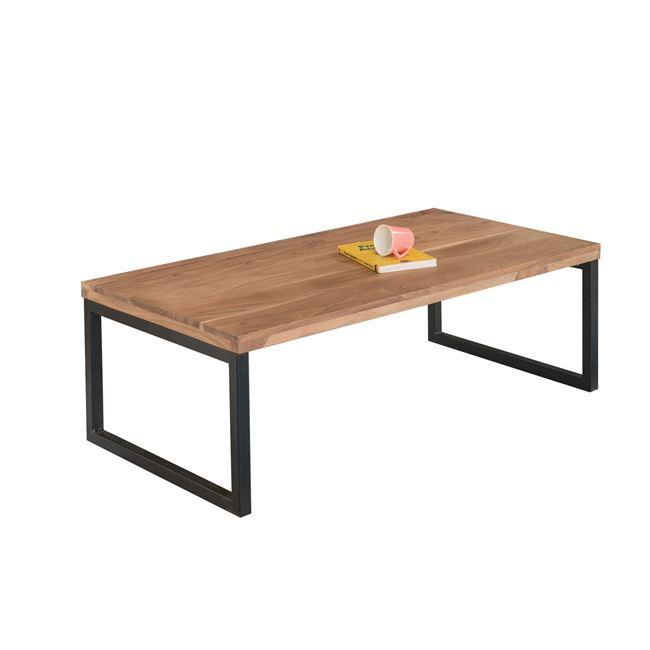 """Τραπέζι σαλονιού """"TAMPA"""" από μέταλλο/ξύλο σε χρώμα μαύρο-φυσικό 115x60x40"""