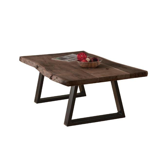 """Τραπέζι σαλονιού """"LIZARD"""" ακακία-καρυδί μεταλλικό-μαύρο 115x65x40"""