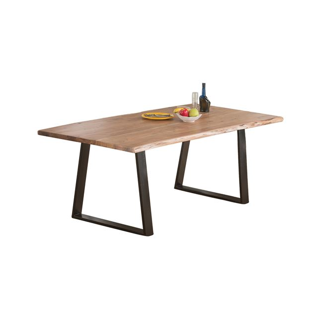 """Τραπέζι """"LIZARD SLIM"""" από μέταλλο/ξύλο σε χρώμα μαύρο-φυσικό 160x90x75"""
