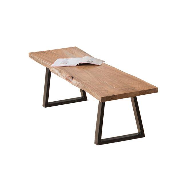 """Πάγκος """"LIZARD SLIM"""" ξύλινος-ακακία σε φυσικό χρώμα 160x45x45"""