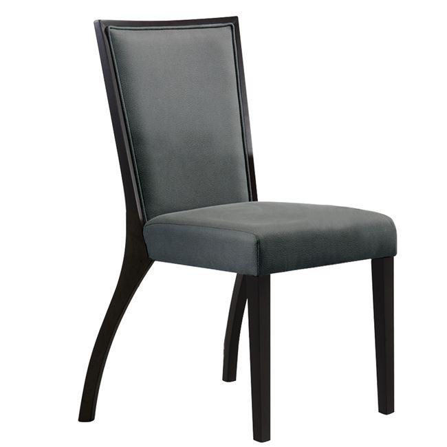 """Καρέκλα """"VERONICA"""" ξύλινη σε χρώμα βέγγε-cappuccino 44x43x91"""