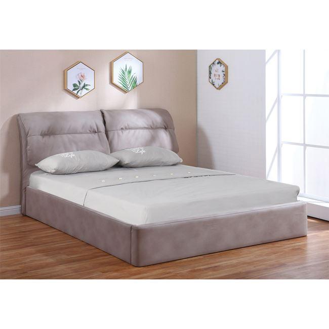 """Κρεβάτι """"VALIANT"""" υφασμάτινο με αποθηκευτικό χώρο σε χρώμα cappuccino 180x219x102"""