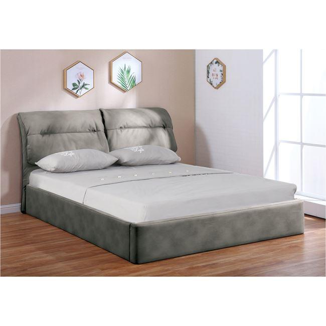"""Κρεβάτι """"VALIANT"""" υφασμάτινο με αποθηκευτικό χώρο σε χρώμα γκρι 180x219x102"""