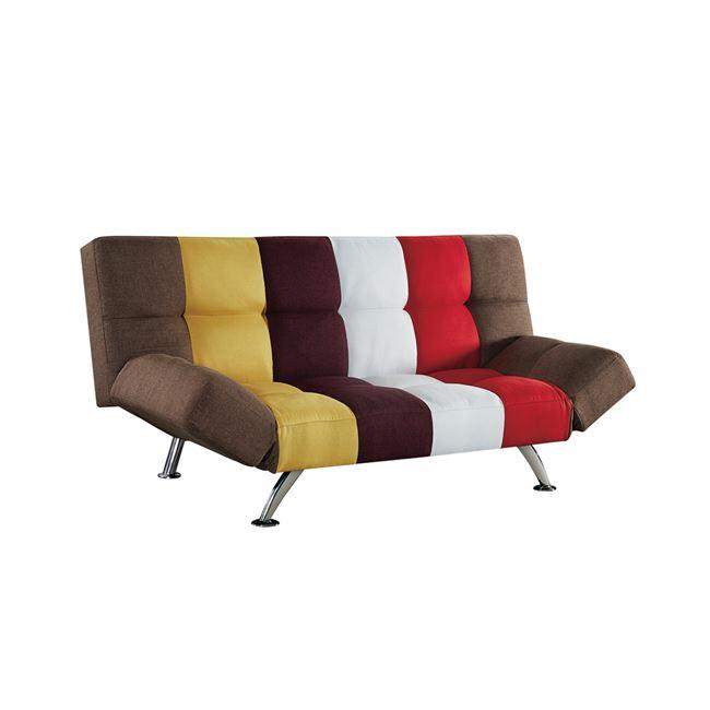 """Καναπές-κρεβάτι """"SNAP"""" υφασμάτινος patchwork 186x97x91"""