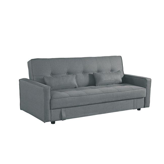"""Καναπές-κρεβάτι """"OPEN"""" με αποθηκευτικό χώρο υφασμάτινος σε γκρι χρώμα 200x86x89"""