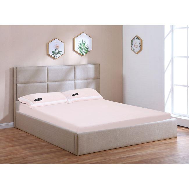 """Κρεβάτι """"MAXIM"""" διπλό με αποθηκευτικό χώρο στο χρώμα της άμμου 173x217x101"""