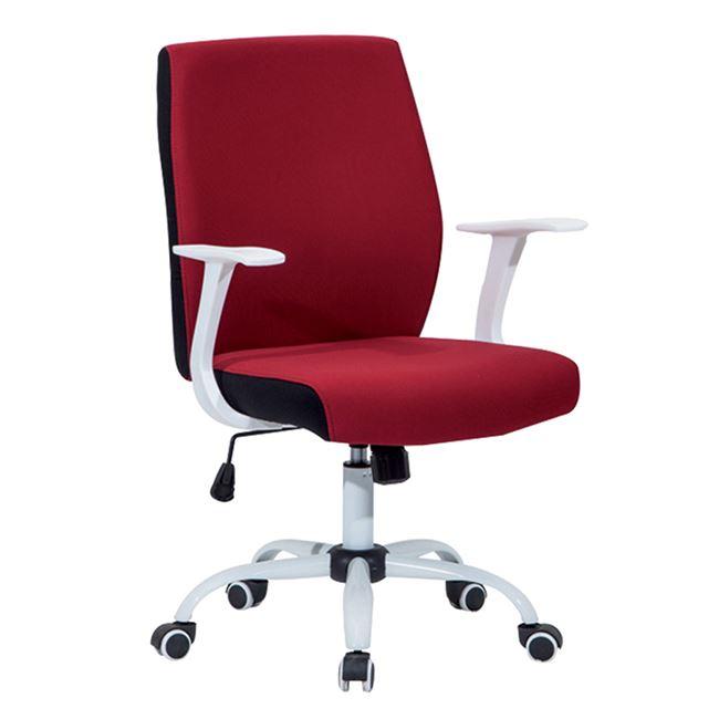 Πολυθρόνα εργασίας σε κόκκινο-λευκό χρώμα 61x57x94/104