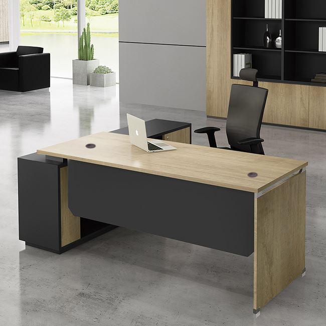 """Γραφείο γωνία δεξιά """"PROJECT"""" σε χρώμα σονόμα/γκρι 160×60/140×40"""