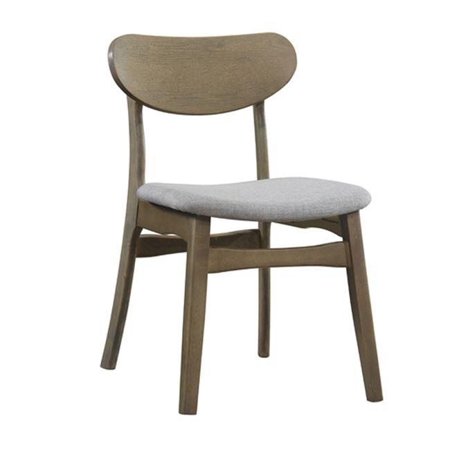 """Καρέκλα """"DOM"""" ξύλινη-ύφασμα σε φυσικό-καφέ χρώμα 53x56x80"""