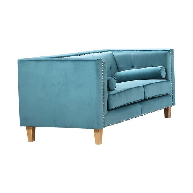 """Καναπές διθέσιος υφασμάτινος """"MIDLAND"""" σε χρώμα πετρολ 152x86x77"""