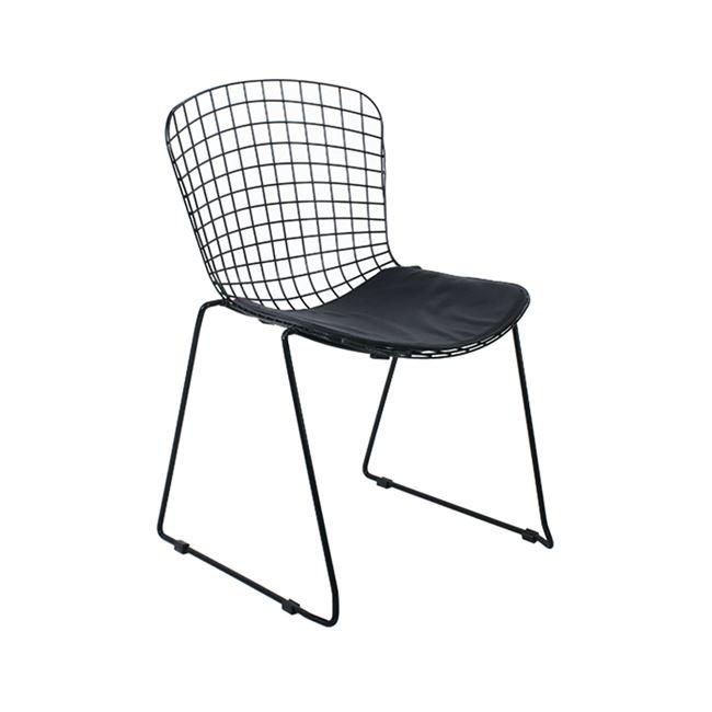 """Καρέκλα """"SAXON"""" μεταλλική σε μαύρο χρώμα 60x61x83"""