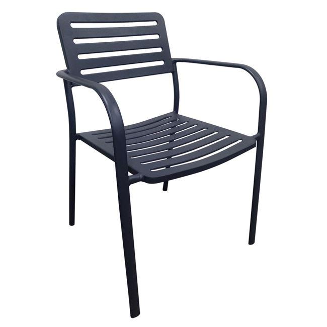 """Καρέκλα """"ROMA"""" μεταλλική σε μαύρο χρώμα 56x55x80"""