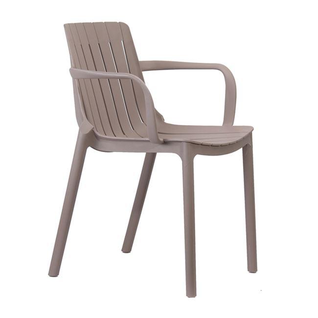 """Πολυθρόνα """"PALMER"""" πολυπροπυλενίου σε χρώμα sand-beige 54x56x78"""