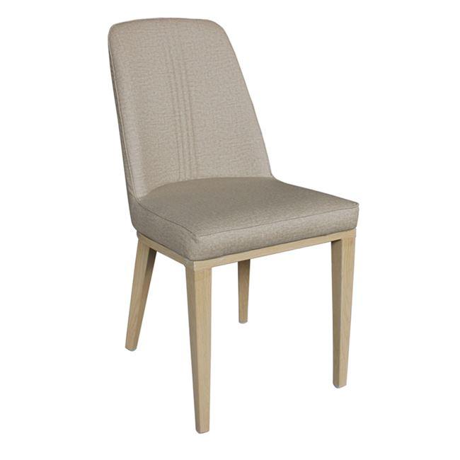 """Καρέκλα """"CASTER"""" μεταλλικό-PU σε χρώμα φυσικό-μπεζ 45x60x89"""