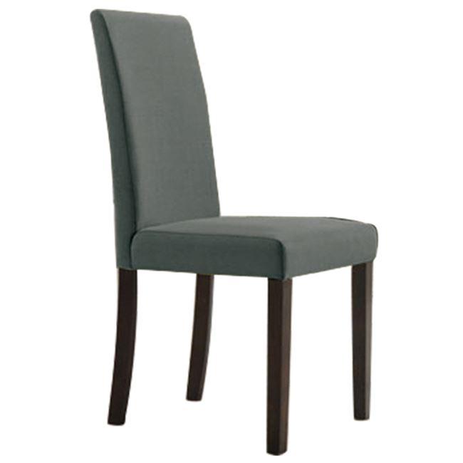 """Καρέκλα τραπεζαρίας """"OPTIMAL"""" υφασμάτινη σε γκρι χρώμα 43x54x93"""