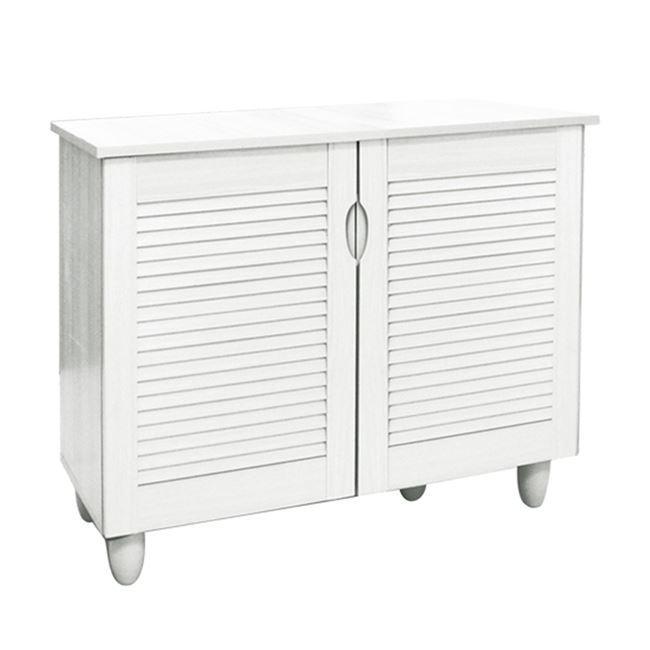 Παπουτσοθήκη σε λευκό χρώμα 77x34x68