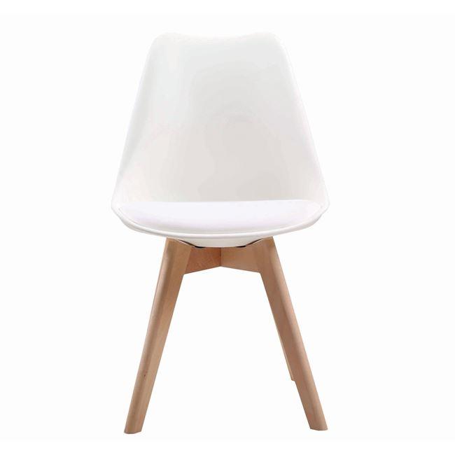 """Καρέκλα """"MARTIN"""" ξύλινη-pp σε χρώμα λευκό 49x57x82"""