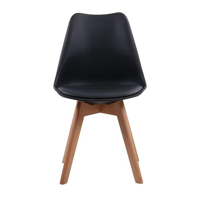 """Καρέκλα """"MARTIN"""" ξύλινη-pp σε χρώμα μαύρο 49x57x82"""