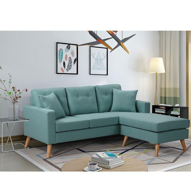 """Καναπές αναστρέψιμος """"ALAN"""" υφασμάτινος σε βεραμάν χρώμα 182x158x66/86"""