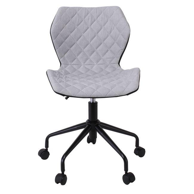"""Καρέκλα γραφείου """"DAVID"""" υφασμάτινη σε γκρι-μαύρο χρώμα 48x50x78/88"""
