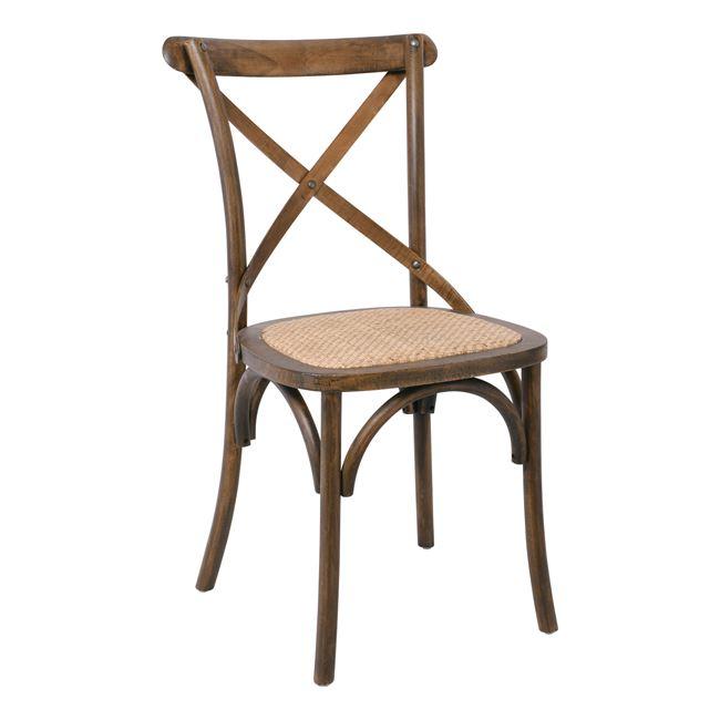 """Καρέκλα """"DESTINY"""" από ξύλο σε χρώμα καρυδί 48x52x89"""