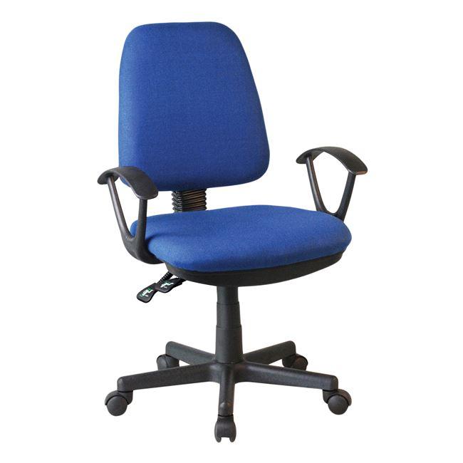 Πολυθρόνα εργασίας υφασμάτινη σε χρώμα μπλε 62x55x102