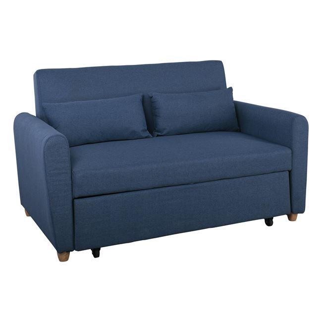 """Καναπές-κρεβάτι """"MOTTO"""" διθέσιος από ύφασμα σε χρώμα μπλε 145x89x86"""