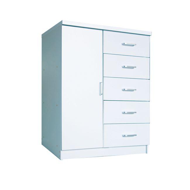 Παπουτσοθήκη-ντουλάπι σε χρώμα λευκό 80x40x100