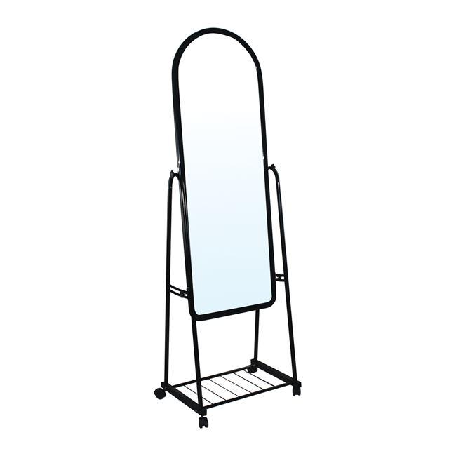 """Καθρέπτης δαπέδου """"ROLLAND BIG"""" μεταλλικό σε μαύρο χρώμα 50x40x160"""