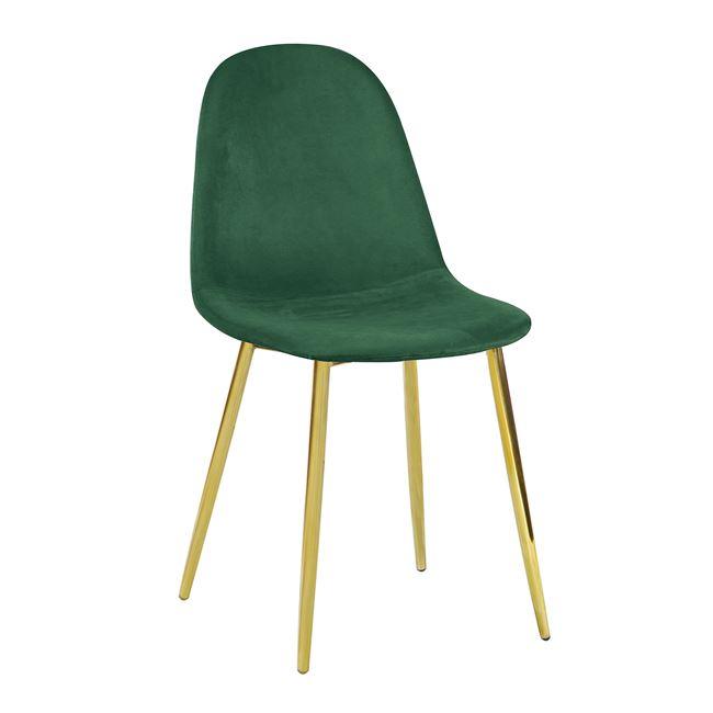 """Καρέκλα """"CELINA"""" μεταλλική-βελούδινη σε χρώμα πράσινο 45x54x85"""