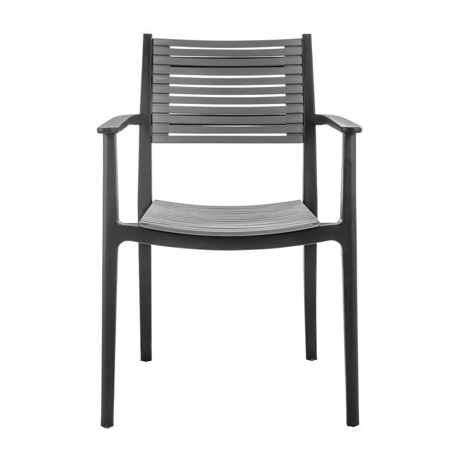 """Πολυθρόνα """"AKRON"""" από PP σε χρώμα γκρι 60x55x85"""