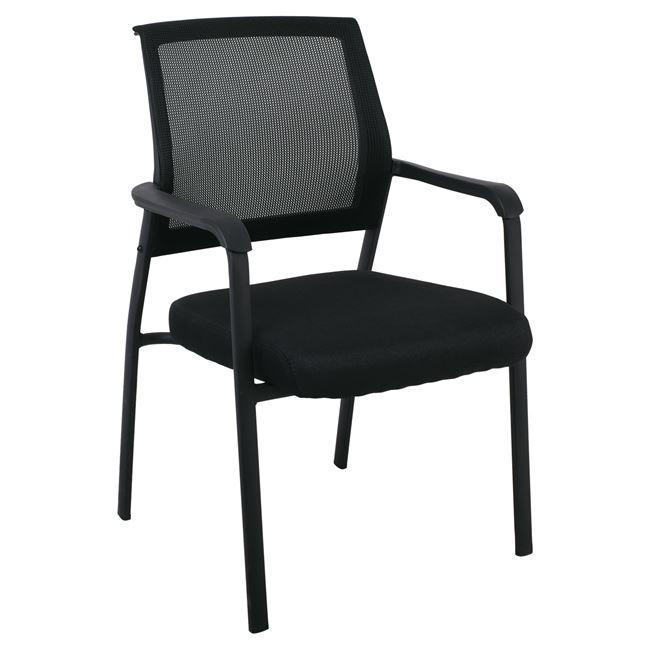 """Πολυθρόνα επισκέπτη """"ASCO"""" μεταλλική-υφασμάτινη σε μαύρο χρώμα 61x64x92"""