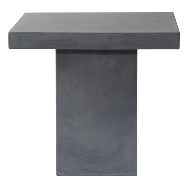 """Τραπέζι """"CONCRETE"""" από τσιμέντο σε χρώμα γκρι 80x80x75"""