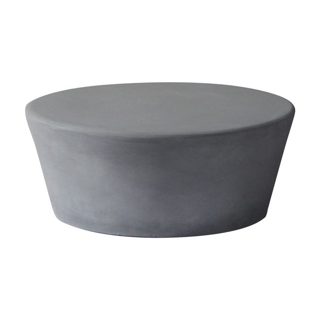 """Τραπέζι σαλονιού """"CONCRETE"""" από τσιμέντο σε χρώμα γκρι Φ75×30"""